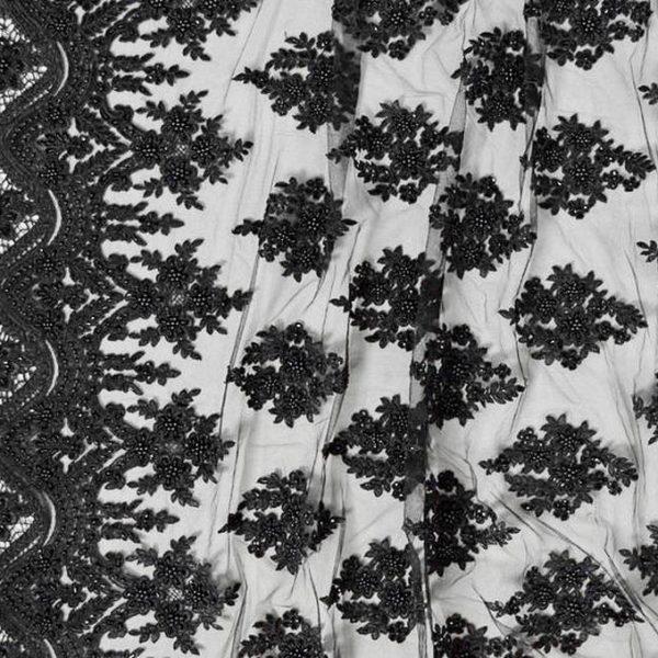 Кружевное полотно с бисером арт. 230390362, фото 2