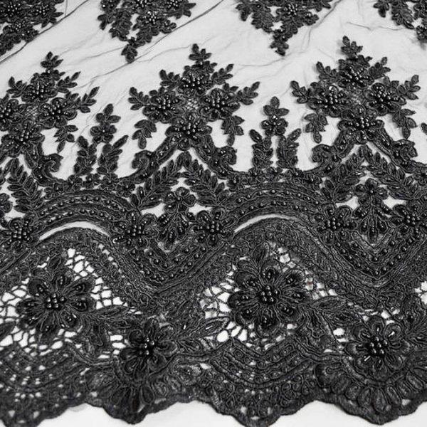 Кружевное полотно с бисером арт. 230390362, фото 1