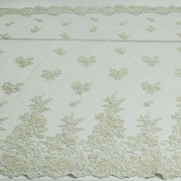 Нарядная ткань - сетка расшитая бисером арт. 23201/82072, фото 1
