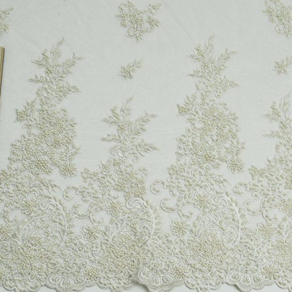 Нарядная ткань - сетка расшитая бисером арт. 23201/82072, фото 2