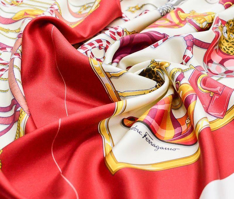Платочная ткань Salvatore Ferragamo купон 90см*90см арт. 23201/5324362, фото 1