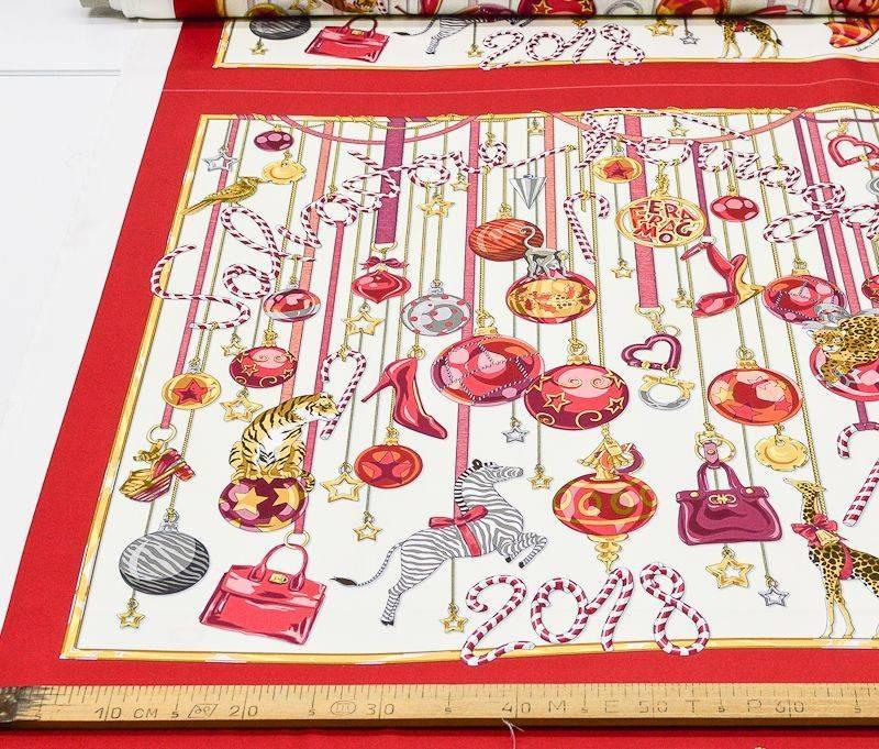 Платочная ткань Salvatore Ferragamo купон 90см*90см арт. 23201/5324362, фото 2