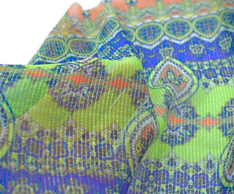 Шифон шелковый плательно- блузочный арт. 23611/02192, фото 2