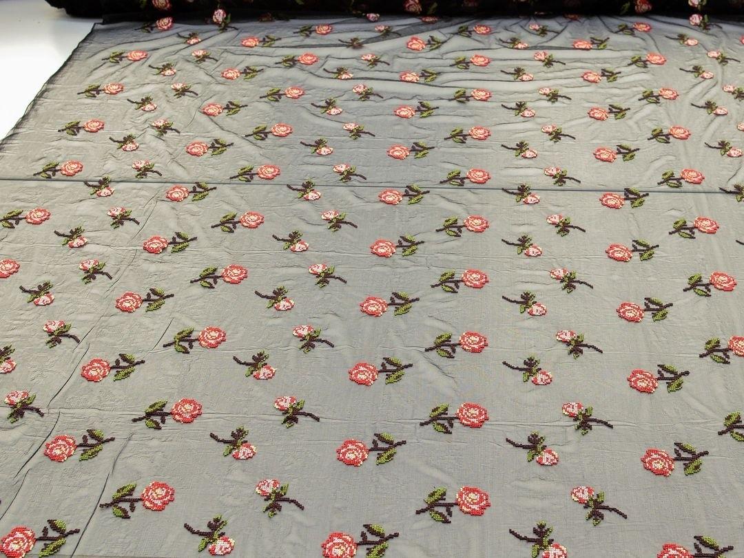 Вышивка крестиком на сетке (романтичные розочки) арт. 230957802, фото 2