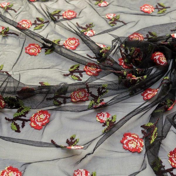 Вышивка крестиком на сетке (романтичные розочки) арт. 230957802, фото 1