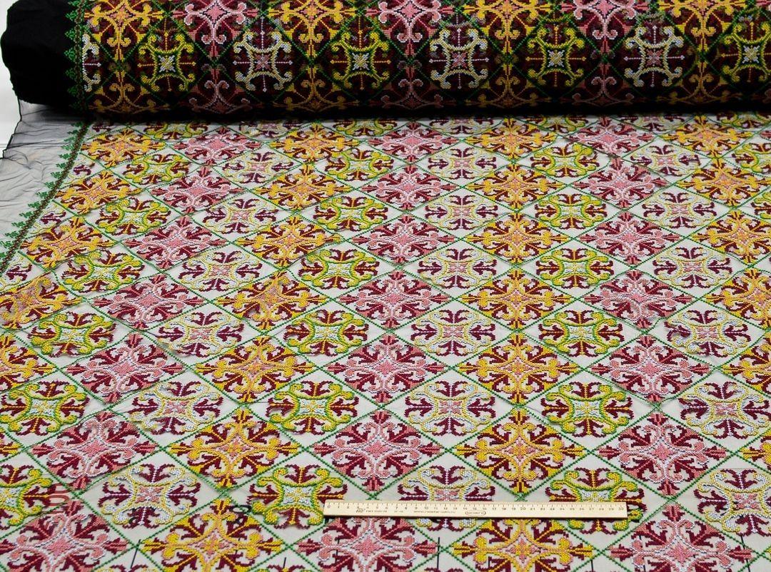 Вышивка крестиком на сетке (в народном стиле) арт. 230999862, фото 3