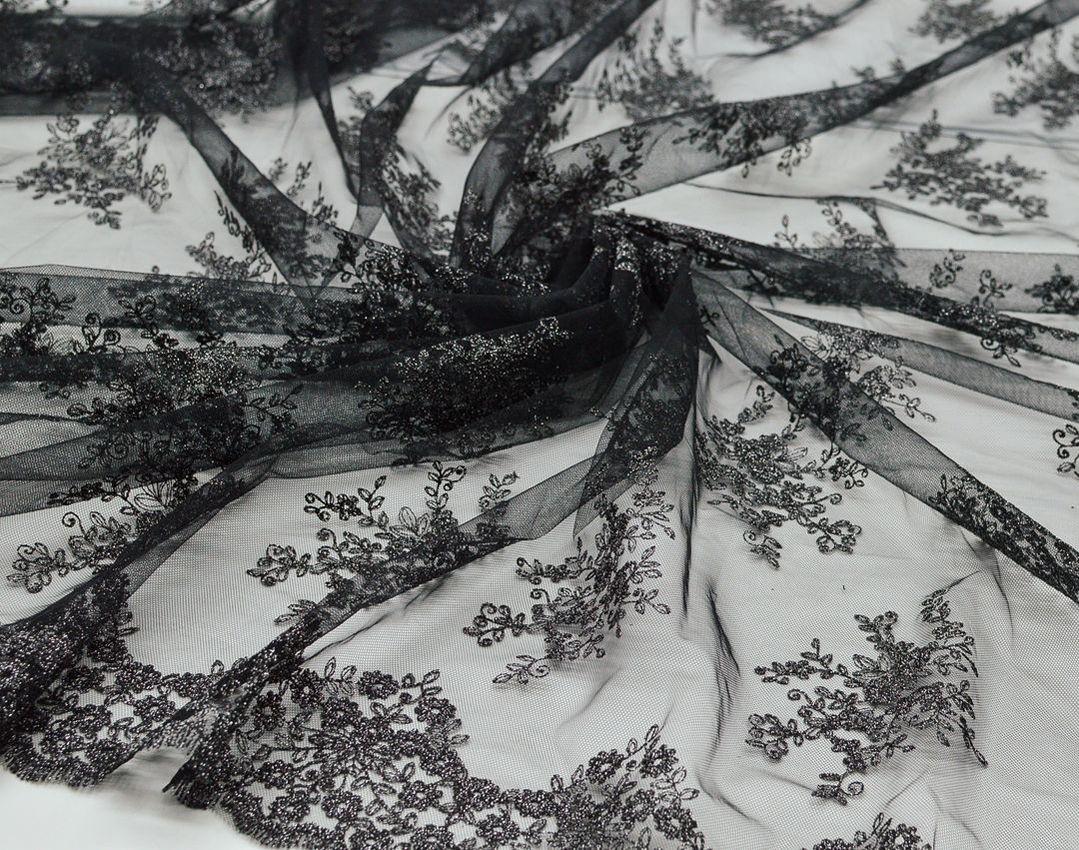 Вышивка на сетке (цветочный рисунок) арт. 230959642, фото 3