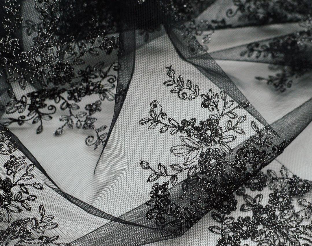 Вышивка на сетке (цветочный рисунок) арт. 230959642, фото 4