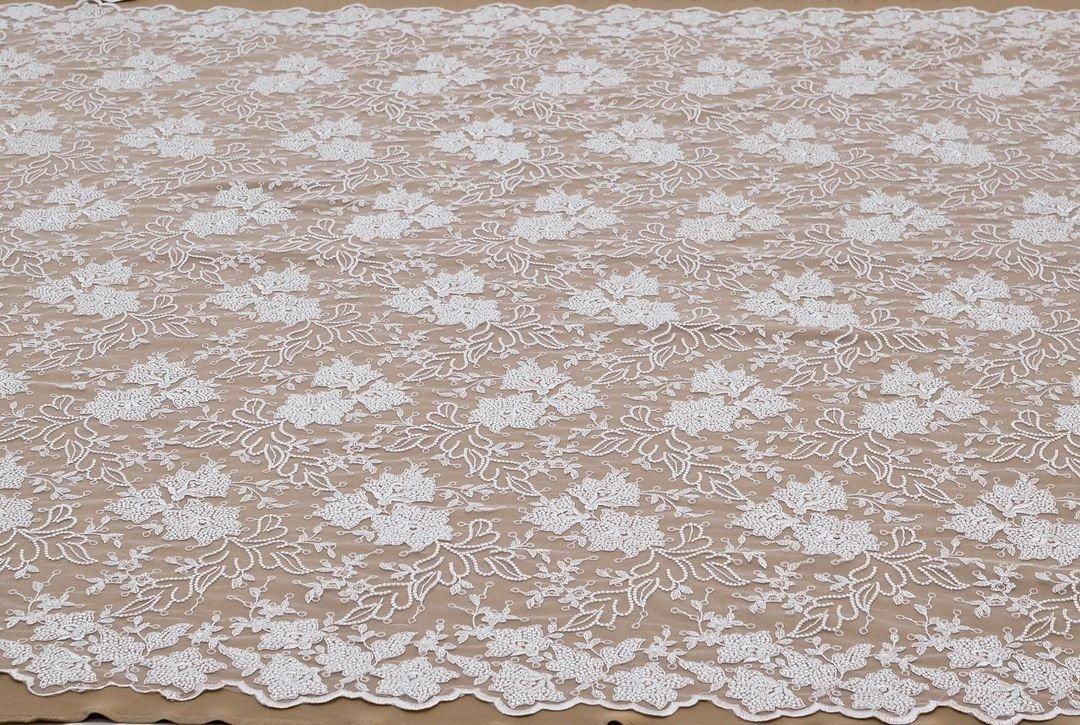Вышивка на сетке (цветочный рисунок) арт. 230959332, фото 1