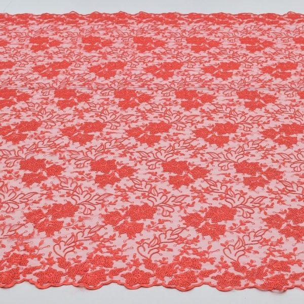 Вышивка на сетке (цветочный рисунок) арт. 230959402, фото 2