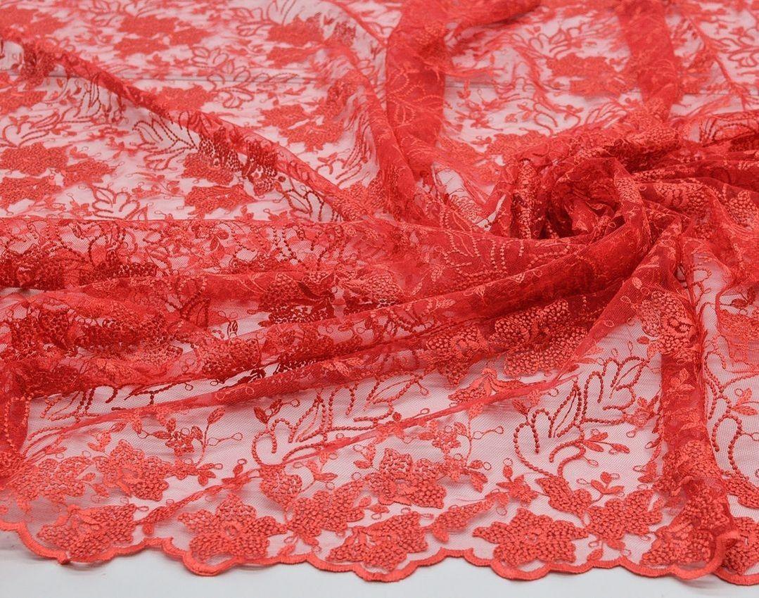 Вышивка на сетке (цветочный рисунок) арт. 230959402, фото 3