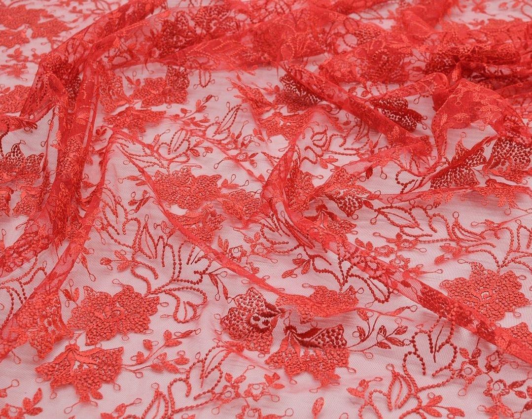 Вышивка на сетке (цветочный рисунок) арт. 230959402, фото 4