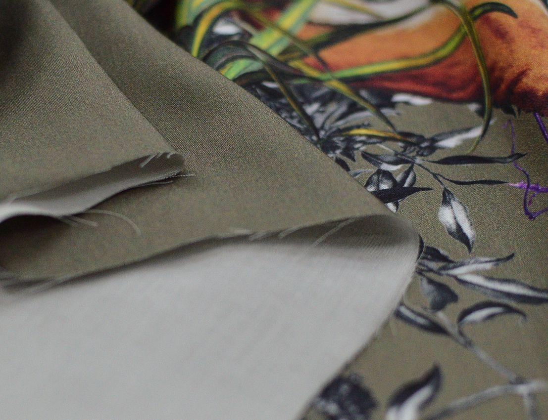 "Вискозный шелк ""Джунгли"" Купон 1,30 см арт. 232/9545122, фото 4"